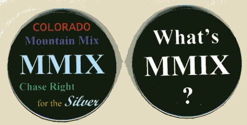 Two buttons publicizing Mountain Mix, using MMIX
